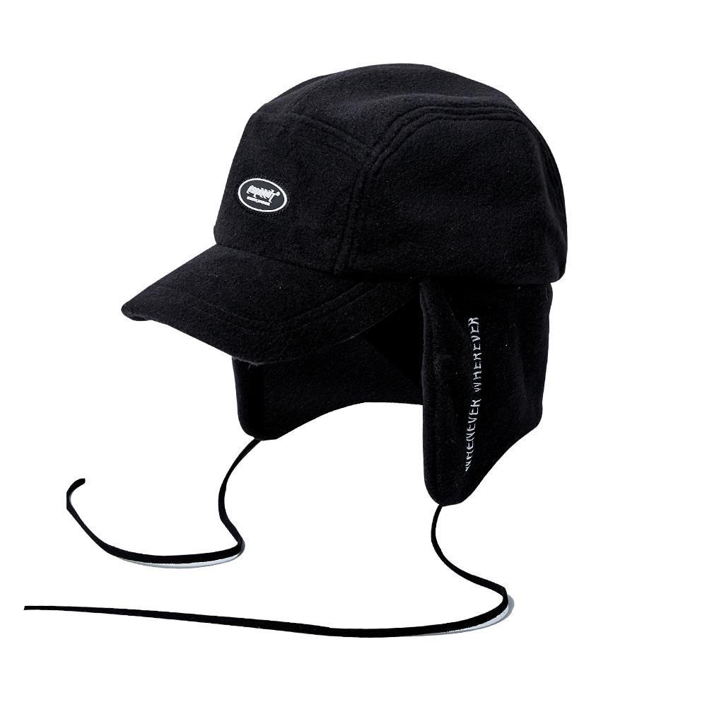 자체브랜드 BSW FLEECE EARFLAP CAP BLACK