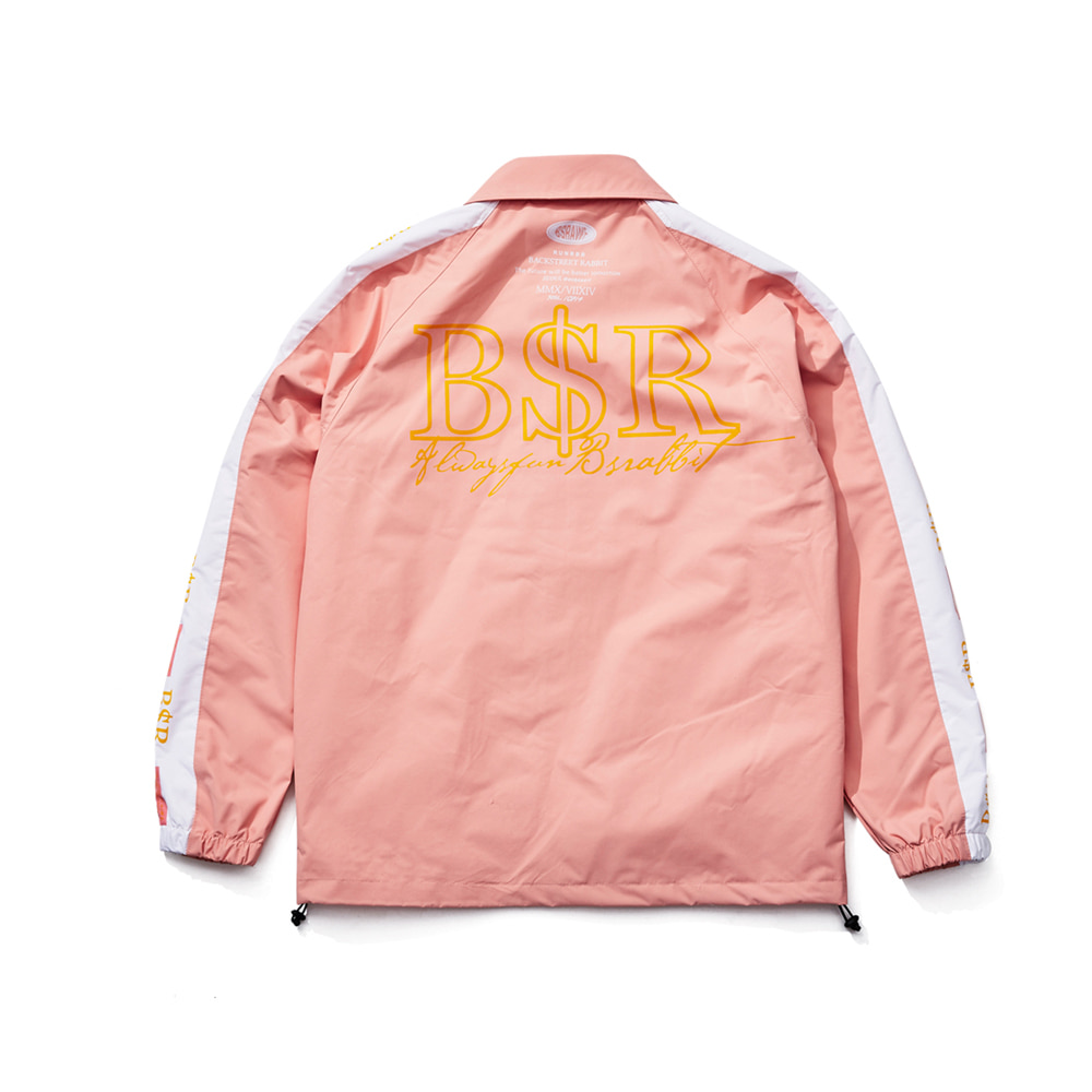 BSRABBIT BSR COACH JACKET INDY PINK