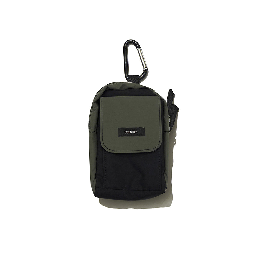 BSRABBIT UTILITY SMALL BAG KHAKI BLACK