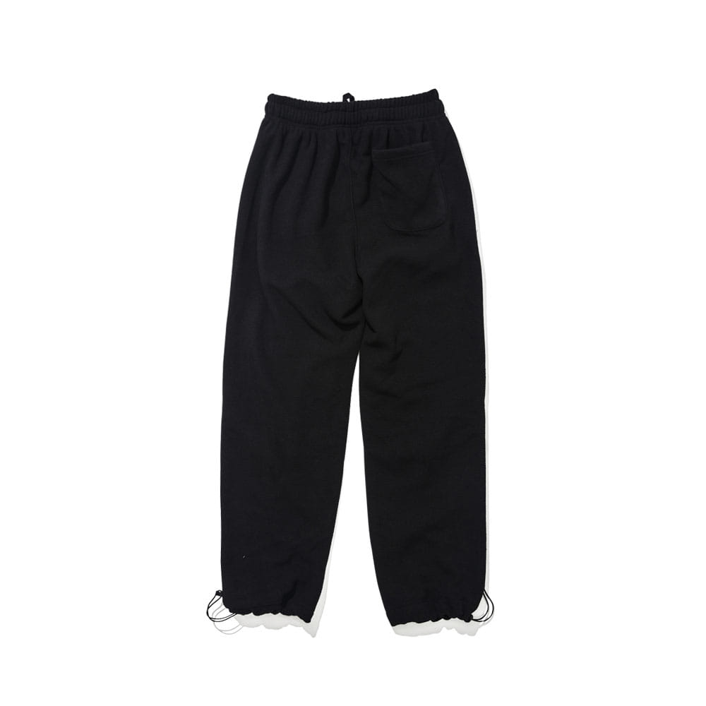 BSRABBIT BSR FLEECE TRACK PANTS BLACK