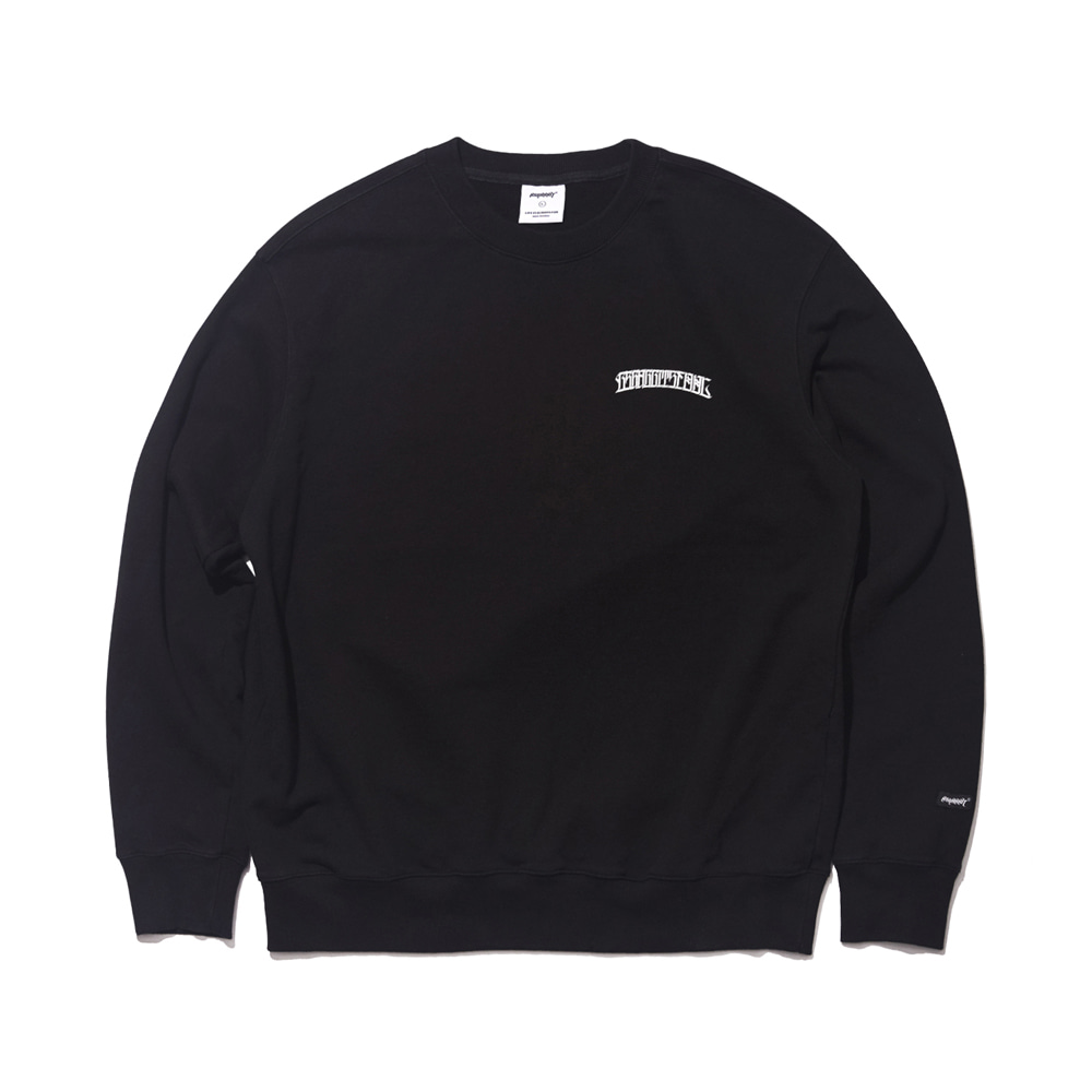 자체브랜드 ROS SKY WELCOME DRY SWEAT SHIRT BLACK