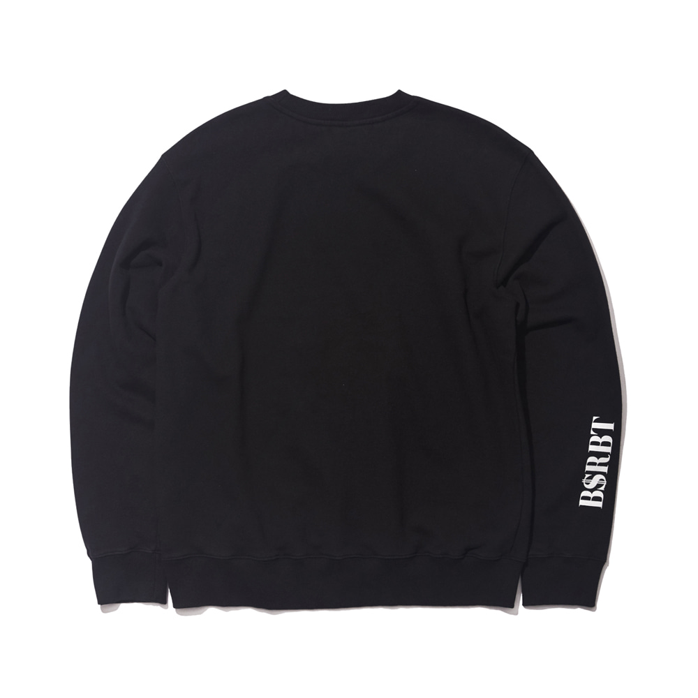 자체브랜드 LOGO WELCOME DRY SWEAT SHIRT BLACK