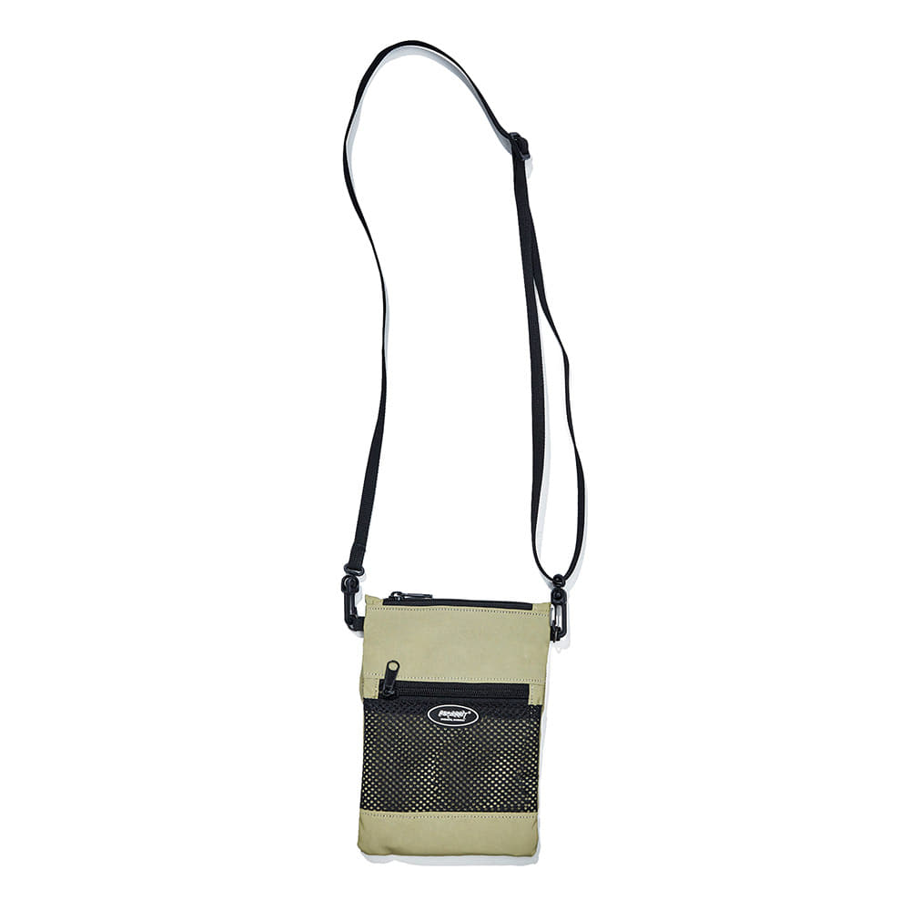 자체브랜드 BSRABBIT MINI CROSS BAG LIME REFLECTIVE