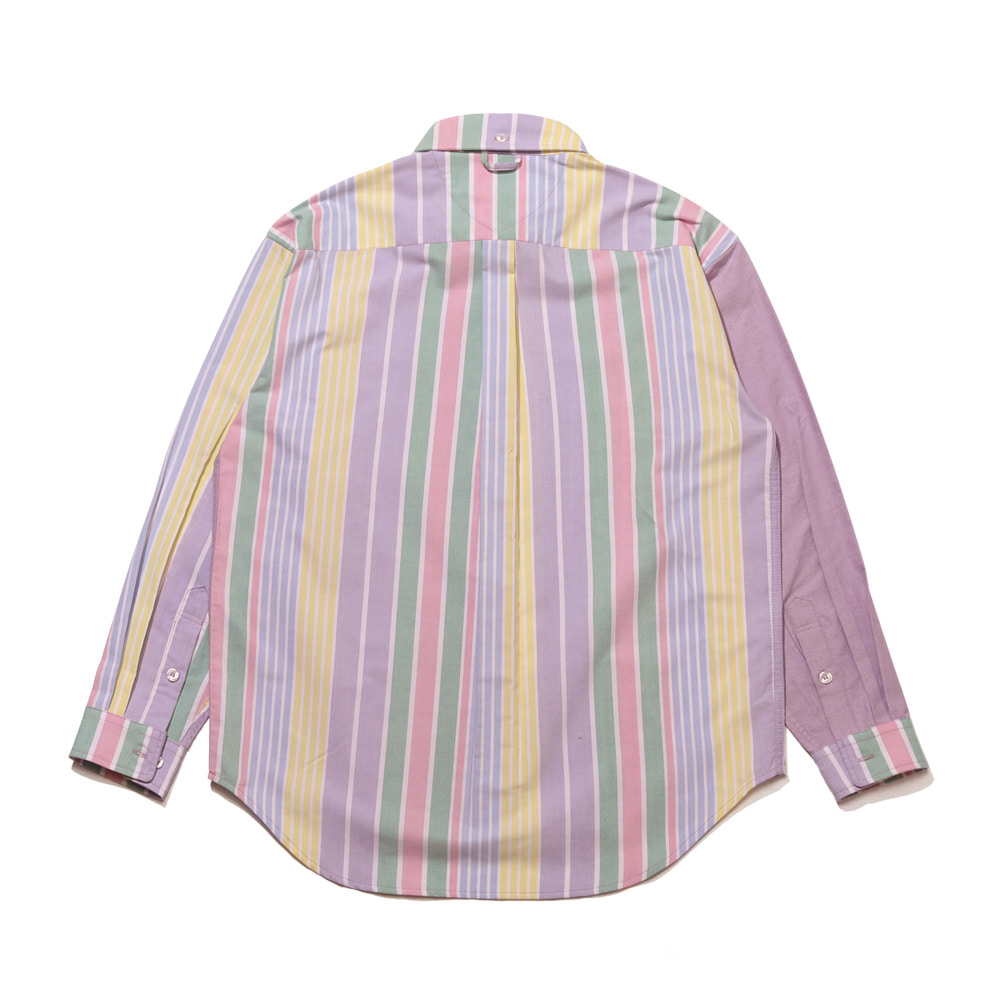 자체브랜드 BEAR RABBIT STRIPE MIX OVER SHIRT LT.PURPLE