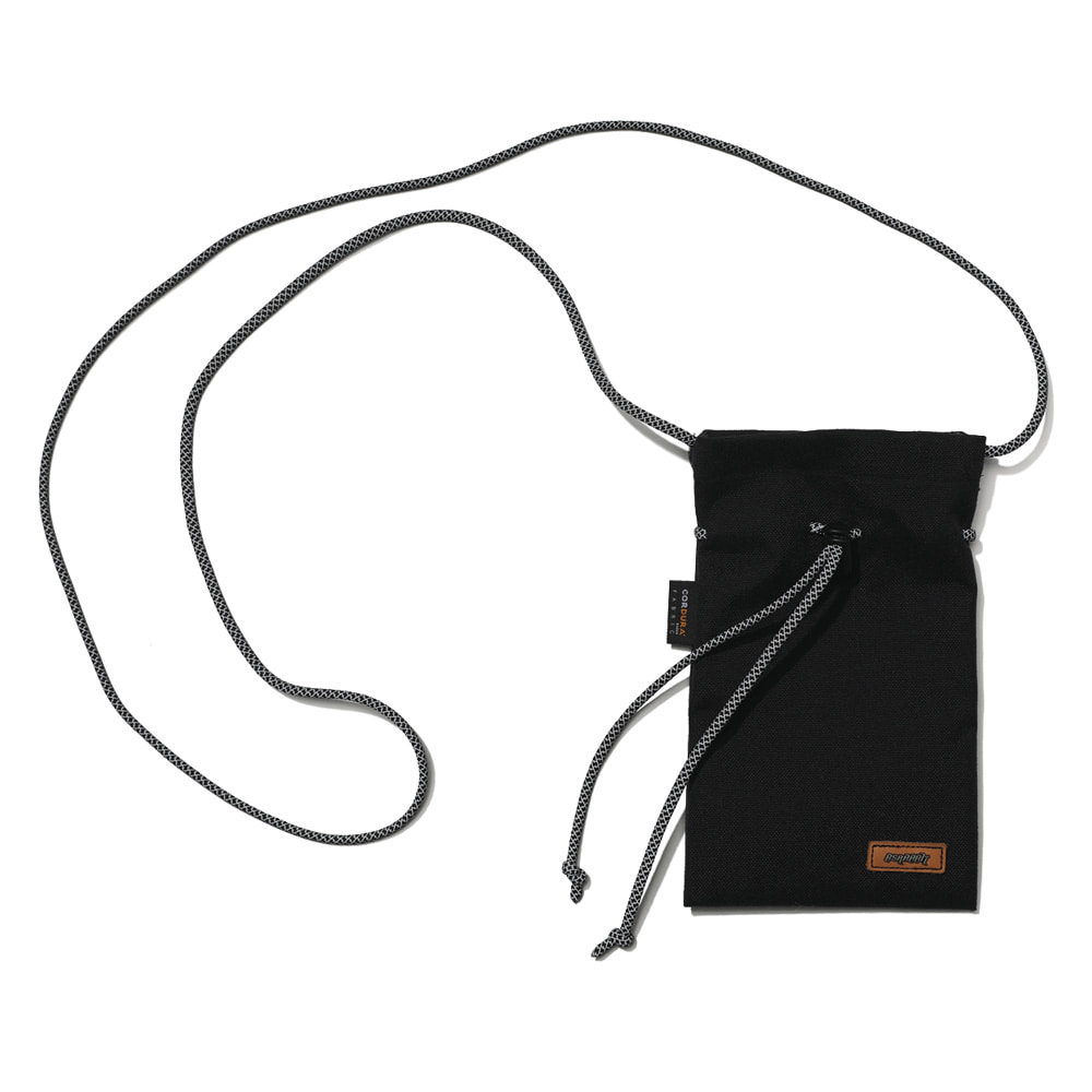 자체브랜드 DRAW SCOTCH STRING BAG BLACK