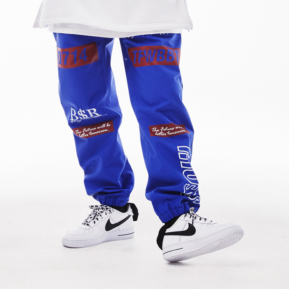 BSRABBIT TFWBBT WATERPROOF JOGGER PANTS BLUE