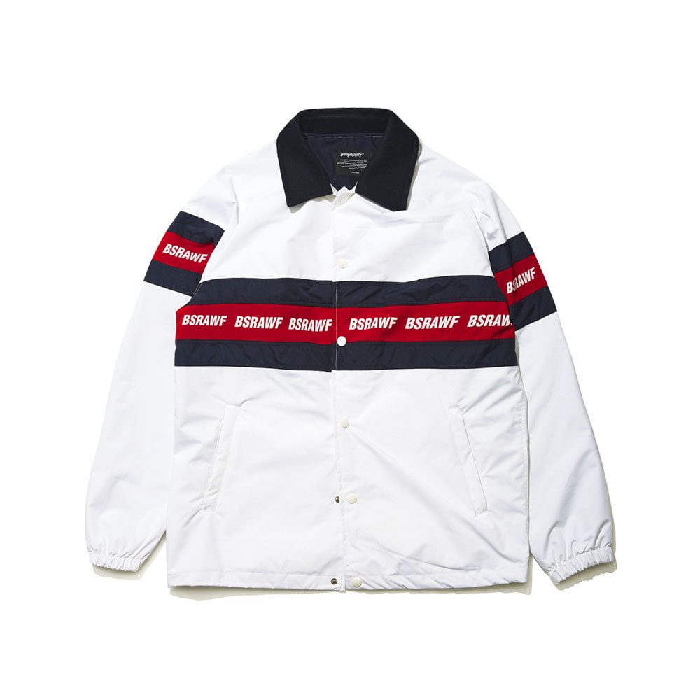 BSRABBIT BSRAWF LINE COACH JACKET WHITE