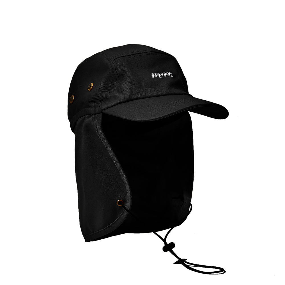 BSRABBIT LOGO FISHING with ENF CAP BLACK