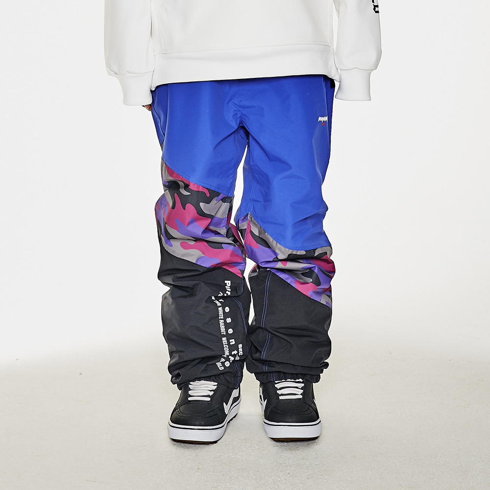 BSRABBIT DIAGONAL BOX JOGGER PANTS PURPLE CAMO