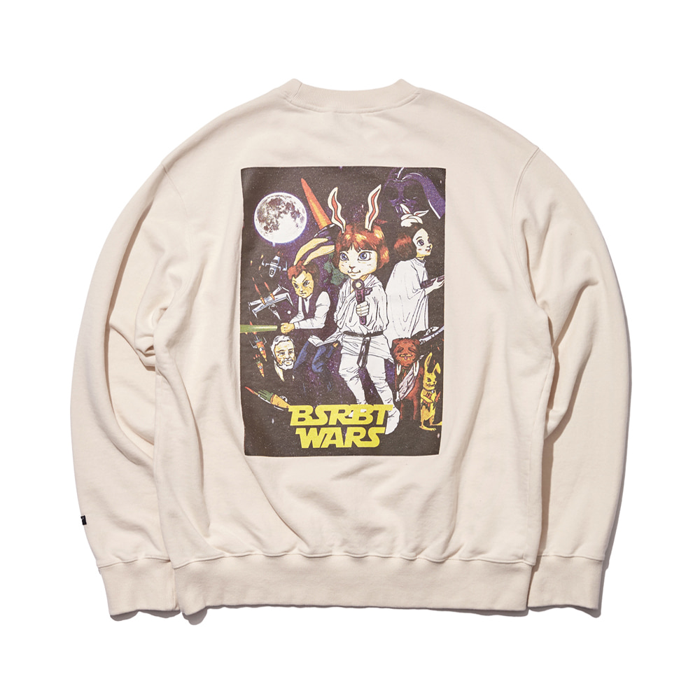 자체브랜드 RABBIT WARS WELCOME DRY SWEAT SHIRT CREAM