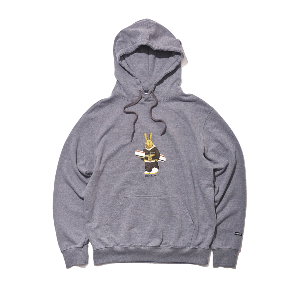 자체브랜드 ALWAYS BEAR RABBIT WELCOME DRY HOODIE DARK GRAY