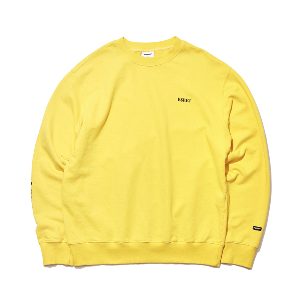자체브랜드 LOGO WELCOME DRY SWEAT SHIRT YELLOW