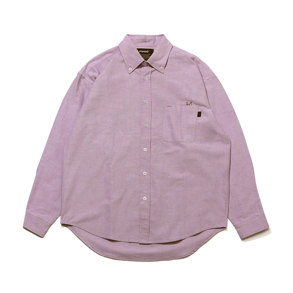 자체브랜드 BEAR RABBIT SOLID OXFORD OVER SHIRT LT.PURPLE