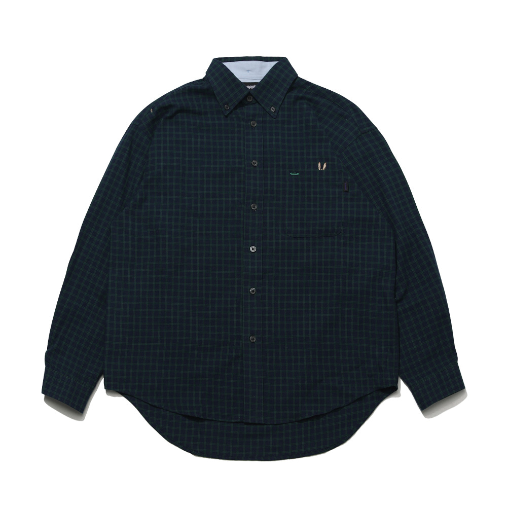 자체브랜드 BEAR RABBIT CHECK OVER SHIRT NAVY
